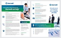 2 Page Brochure Design - US HealthCare by Acreation Designs