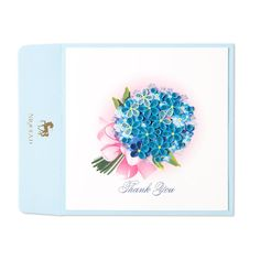 Quilled Blue Hydrangea Price $12.00