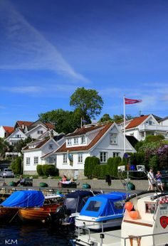 Drøbak in the Oslo Fjord in Norway. One of my favorite places on earth!