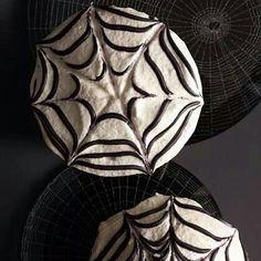 Spider web chocolate cupcakes
