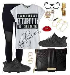 """""""Parental Advisory."""" by stylebyvivica ❤ liked on Polyvore featuring Simon Teakle, Varley, WithChic, Salvatore Ferragamo, Nadri and Betsey Johnson"""