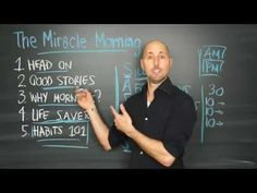 The Miracle Morning by Hal Elrod - YouTube