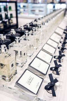 I'd love to mimic the simplicity, elegance, and modern look of Jo Malone's branding for our stationary.