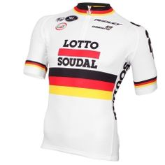 2014-2015 LOTTO SOUDAL Short Sleeve Jersey German Champion
