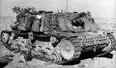 Lots of gear stowed about this Semovente 75mm operating with Africa Korps troops.