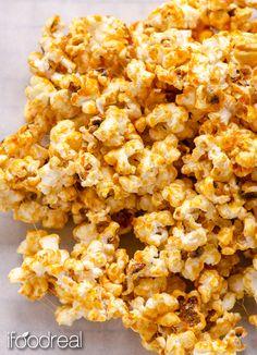 sticky-healthy-vegan-clean-caramel-popcorn-recipe Very simple ingredients.