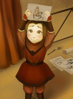 Before her mother abandoned her in favour of Zuko Avatar Aang, Avatar Airbender, Avatar Legend Of Aang, Team Avatar, Legend Of Korra, Fan Art Avatar, The Last Avatar, Avatar Series, Iroh