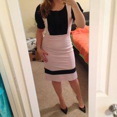 Dvf Suzie Q Dress- Pink/Black Wool Blend Dress