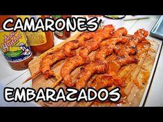 Camarones Embarazados | Camarones Envarasados | Recetas de Cuaresma - YouTube Seafood Dishes, Fish And Seafood, Prawn, Shrimp, Spanish Food, Chicken Wings, Main Dishes, Appetizers, Mexican