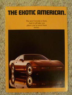 "1983 Chevrolet Corvette ""The Exotic American"" Showroom Sales Brochure RARE! L@@K"