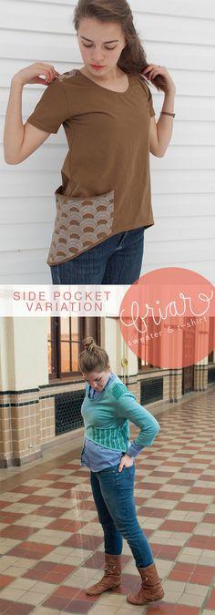 Megan Nielsen Briar pattern side pocket variation by MadMim