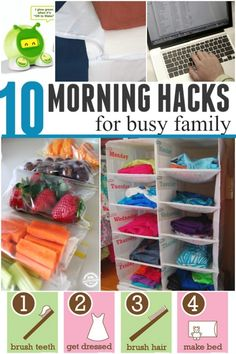 morning hacks- Lots of ways to make mornings with kids easier
