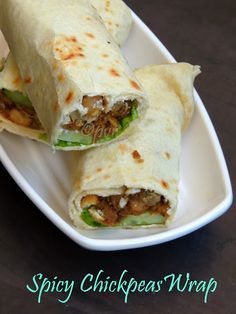 Spicy Chickpeas Wrap