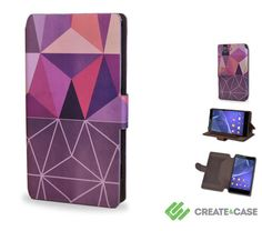 Artist Designed Sony Xperia Z3 Compact wallet style case/cover - Colorful & unique leather style flip case 'Nordic Combination'