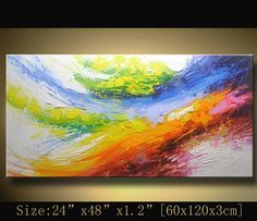 Abstract Wall Painting, expressionism Textured Painting,Impasto Landscape Painting ,Palette Knife Painting on Canvas by Chen XX72