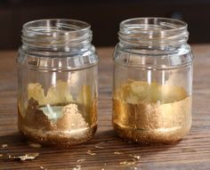 Gold Leaf Candle Jars