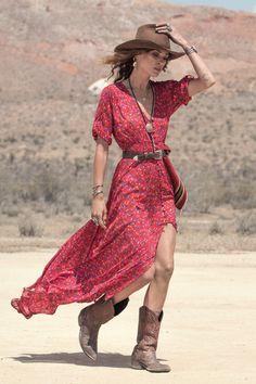 Erin Wasson wears Spell Designs Rambling Rose Gown