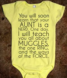 Your Aunt is a Nerd :: Oh good, I don't actually have to be the one to have the kid in order to purchase this onesie. ::