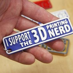 Download on https://cults3d.com #3Dprinting #Impression3D 3D Printing Nerd Keychain 3D file, gCreate