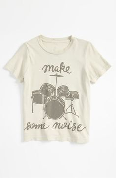 Peek 'Drums' T-Shirt (Toddler, Little Boys  Big Boys) available at #Nordstrom