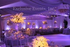 Drape, lighting and decor by Exclusive Events, Inc.