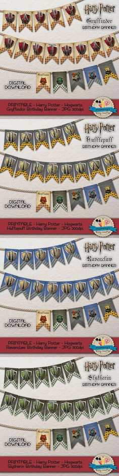 Celebrate your party with all our exclusive Harry Potter printable designs! Our Hogwarts Houses Garland bunting banners are just spectacular! Get them now in our #Etsy digital store: etsy.com/shop/MommysEasyCrafts • • • ¡Celebra tu fiesta Harry Potter con nuestros exclusivos diseños imprimibles de Harry Potter! ¡Nuestros banderines de las Casas de Hogwarts son simplemente espectaculares! Descárgalos en nuestra tienda de Etsy: etsy.com/shop/MommysEasyCrafts #HarryPotter20 #HarryPotter…