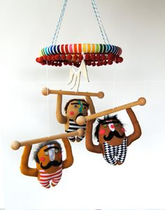 Baby Mobile --- Strong Men ---Made to order