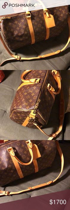 AUTHENTIC LOUIS VUITTON KEEPALL 45 bandouliere Authentic LOUIS VUITTON in monogram canvas- comes with strap, lock, and key. No dustbag. Previously owned but well taken care of. Louis Vuitton Bags Travel Bags