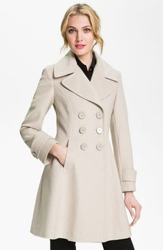 Free shipping and returns on T Tahari 'Darla' Wool Blend Fit & Flare Coat (Online Only) at Nordstrom.com. A classic notched collar and sculpted seams detail a wool-blend coat with a pretty fit-and-flare silhouette.