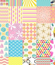 MsWenduhh's Planner Goodies: Summer Erin Condren Squares (Backgrounds & Quotes)