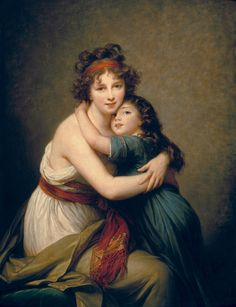 Madame Vigée-Le Brun et sa fille, Jeanne-Lucie, dite Julie (1780-1819). Her powerful love of her daughter is so evident in a lot of her paintings.