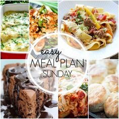 Easy Meal Plan Sunday {Week 41}