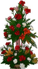 Big Carnation Basket Available at : www.mumbaiflowersdelivery.com/flowers/high-end-flower-arrangements.html