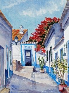 "Watercolours by Manus McGinty ""Ferraguda, Portugal"""