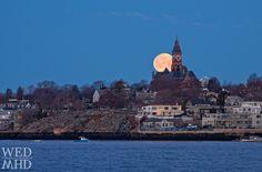 Moon over Marblehead, Massachusetts