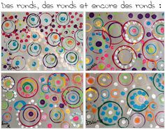 Les ronds - Kindergarten Art Lessons, Dot Day, Yayoi Kusama, Craft Online, Ecole Art, Montessori Activities, Collaborative Art, Preschool Art, Environmental Art