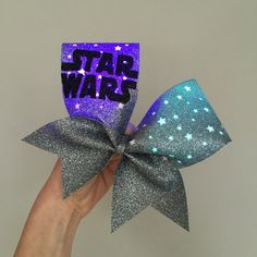 Light Up Rainbow color changing star cheer bow all by TalkToTheBow