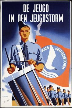 A poster for the Nationale Jeugdstorm, the Netherlands equivalent of the Hitler Youth.
