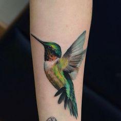 Beautiful Hummingbird Tattoo
