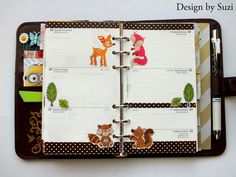 The week nr. 43 - animals in the forest #planner