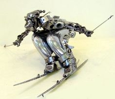 Amazing Art Of Sculpting With Car Parts By Renowned Artist James Corbett