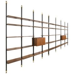Extra Large Italian 1950s Bookcase   See more antique and modern Bookcases at https://www.1stdibs.com/furniture/storage-case-pieces/bookcases