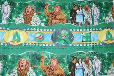 Wizard of Oz Emerald City Stripe Fabric BTY by Loriscountryfabrics, $7.95