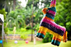 Piñata filled with mini alcohol bottles and some candy of course