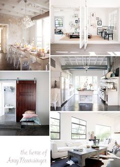 make a door like this Make A Door, Interior And Exterior, Interior Design, Style Deco, Concrete Floors, Poured Concrete, Wooden Doors, Elle Decor, Great Rooms