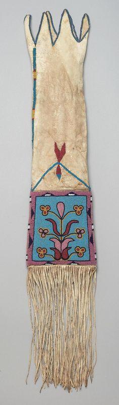 Сумка для табака. Черноногие, Амскапи Пикуни. Монтана 1890 г. Чендлер-Порт.
