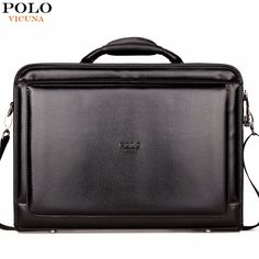 49.98$  Buy now - http://ali6pa.shopchina.info/go.php?t=32791515605 - VICUNA POLO Brand Business Office Men Bag Large Capacity Black Mens Briefcase Bag With Calculator Code-Lock Open Men Bag maletin 49.98$ #buyonline