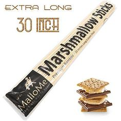 Bamboo Marshmallow Roasting Sticks Set of one hundred Picket Scorching Canine Sticks Smores Shish Kabob Skewers 30 Inch Patio Hearth Pit Equipment Campfire Cooking Youngsters Tenting Cookware - FREE Marshmallow Sticks E-book. >>> See even more by clicking the image