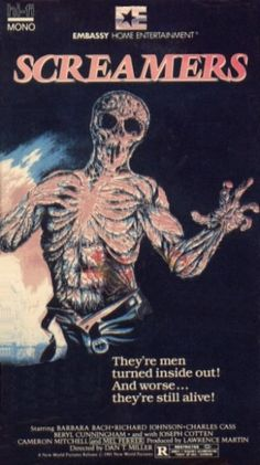 VHS cover art for Screamers (1979) also known as Island of the Fishmen