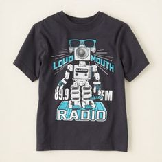 robot radio graphic tee